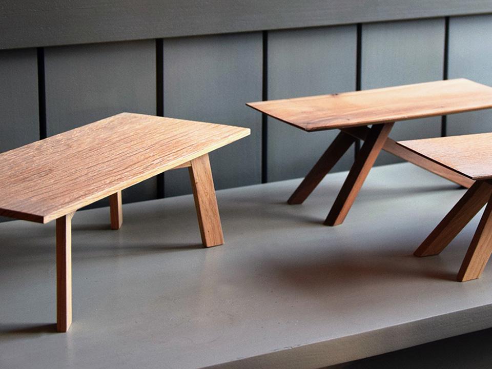 Kleine Tischmodelle aus Holz | Kunststück Schreinerei München