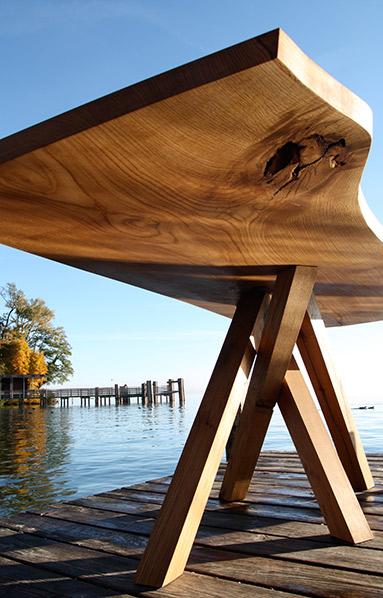 Tisch am Starnberger See   Kunststück Schreinerei München
