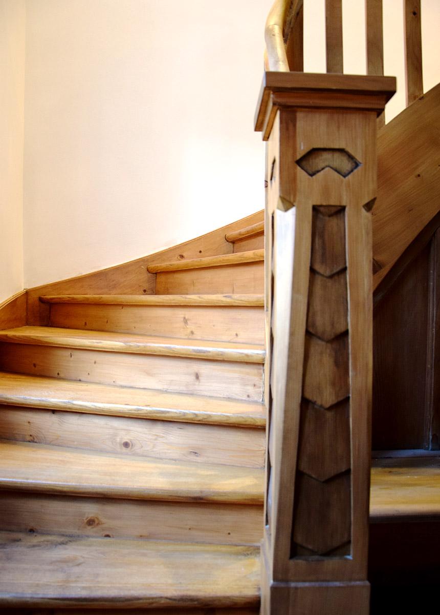 Historische Holztreppe | Kunststück Schreinerei München